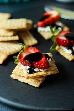 appetizer using less than 5 ingredients! Strawberry Goat Cheese Bites ...