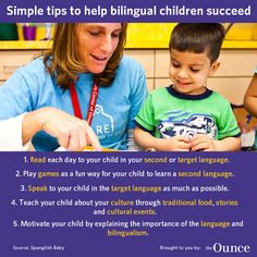 Simple tips to help bilingual children succeed from SpanglishBaby.