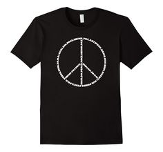 Peace Sign Symbol With Various Languages T-Shirt, only $17.99