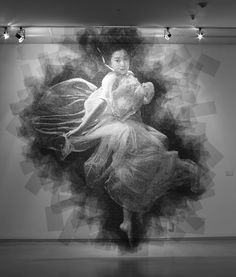 From the 'You Can Draw With Anything' Department: Seung Mo Park's Gorgeous Steel Mesh Portraits Drawing with STEEL!!!!