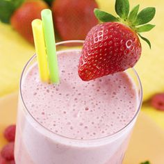 Strawberry-Banana Smoothie  2 cups strawberries  2 bananas  1 1/2 cups Pure Almond Milk-unsweetened  1 cup Orange Juice  2 tablespoons honey    LIVE INSPIRED LIVE WELL