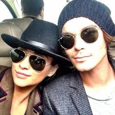 This may be from 2013, but we don't care. The hats, the sunglasses, these two together — there's so much we love going on here.