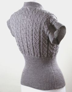 34 Chest SALE. 1950s-Style Handknit Cap-Sleeve by haloopajoop