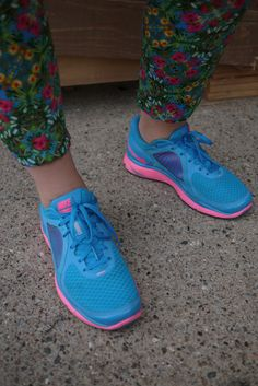The girls at Bread and Butter Berlin can't get enough of neon Nikes and nor can we!