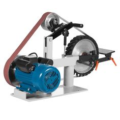 "V-MACH 2Hp Belt Grinder Constant Speed 2 X 82"" Belt Grinder Sander with 3 Grinding Wheel Belt Sander 12"" Wheel & Flat Platen Tool Rest (Constant Speed) - - Amazon.com"