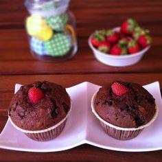 ChiarapassionMuffin al cioccolato con cuore di Fragolaby Chiarapassion