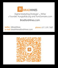 BradfordHines.com | Marketing with and branding your marketing materials with QR codes