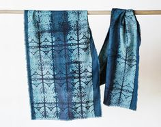 cotton scarf hand printed hand dyed hand painted by 88editions, $65.00