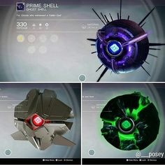 The Rarest Ghost Shells From The Game Destiny By Bungie Studios (2014)