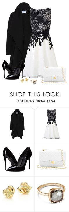 """""""Another black and white sight."""" by tuomoon ❤ liked on Polyvore featuring Harris Wharf London, Coast, Dolce&Gabbana, WGACA, Gucci, Lily Blanche, lace and blackandwhite"""