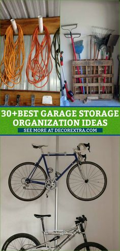 Garage Storage and Organization Ideas. Usually, we skip the garage when it's time to organize, but it's generally one of the most cluttered spaces of our Garage Organisation, Office Organization At Work, Diy Garage Storage, Diy Organization, Storage Ideas, Organizing Ideas, Food Storage, Storage Solutions, Kids Bedroom Storage
