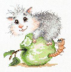 Cross Stitch Kit What's the matter? (hamster) in Crafts, Needlecrafts & Yarn, Embroidery & Cross Stitch | eBay!