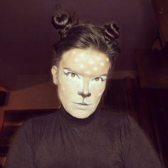 Deer / Doe Halloween makeup. Bambi inspired.