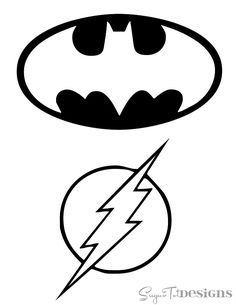 FREE Printable Superhero Logos from Sugar Tot Designs.  Batman, Green Lantern, Superman & Flash. I'm prentending not to see this - trademark infringement at it's finest.