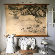 Love winter time - that's when I swap out my Dutch alphabet script writing school poster for this Swedish snow hare school poster. Love it!