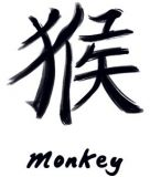 The tattoo I have on my ankle (minus the word monkey) The monkey is my Chinese astrological sign.
