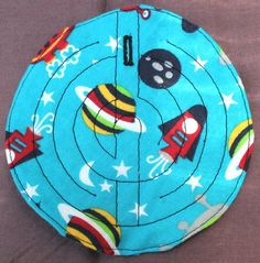 Fabric grounding maze for stimming and by LucilleSews on Etsy Blue Space, Fidget Toys, Space Theme, Maze, Handmade Items, How Are You Feeling, Presents, Kids Rugs, Fabric