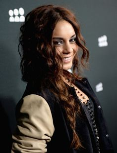 Vanessa Hudgens Hair Styles 2014: Long Curly Braided Hairstyle