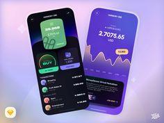 Freebie - Crypto App by Siamak on Dribbble