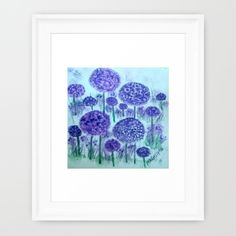 Field of Alliums (watercolor)