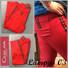Spodnie z lampasem Cevlar BL03 kolor czerwony rozmiar 38 – 40 – 42 - Big Sister Hermes Kelly, Bermuda Shorts, Fit, Bags, Fashion, Handbags, Moda, La Mode, Dime Bags