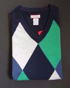 Ben Hogan Men's Sleeveless V-Neck Navy 100% Cotton Sweater Size: M, L & XXL $60 #BenHogan #VNeck