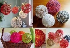 Tutos boules de Noël en laine Découvrez comment faire des boules de Noël en laine. C'est facile, rapide et pas cher à faire. Une bonne idée de décorations de Noël à faire avec les enfants pour décorer le sapin et embellir la maison pour les fêtes.. Faire...