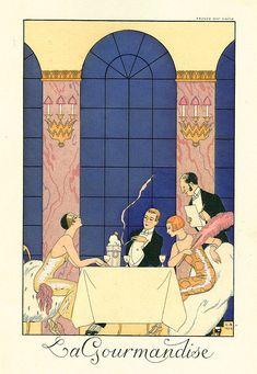 George Barbier - La Gourmandise Gluttony