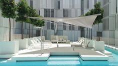 Der Sonne entgegen segeln - Die Wiener SunSquare Kautzky GmbH produziert neuen Sonnensegel-Superstar In Dubai, Scandi Home, Scandi Style, Timeless Design, Scandinavian Design, Canopy, Exterior, Mansions, Living Room