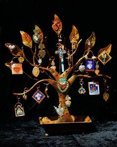 Sacred Heart Shrine and Ornament Tree