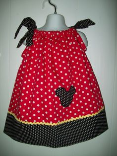 Mickey Mouse Custom Boutique Pillowcase Dress  Sizes Availible Newborn - 6. $22.00, via Etsy.