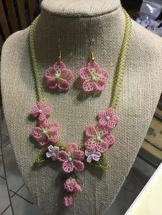 Chery blossom flowers - Jewelry creation by LizyNBCreations