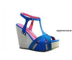 sandalias con plataforma azul Shumel Calzados primavera verano 2014
