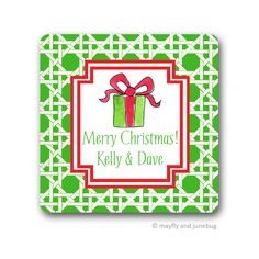 Holiday Gift Stickers / Return Address Labels by Mayfly and Junebug featuring hand-drawn and hand-painted art and design by Kelly Kirkland.  10+ holiday icons, 20+patterns, and many color combinations from which to choose!