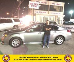 https://flic.kr/p/yBCYXL | Happy Anniversary to Tyler on your #Subaru #Legacy from Fidel Rodriguez at Auto Center of Texas! | deliverymaxx.com/DealerReviews.aspx?DealerCode=QZQH