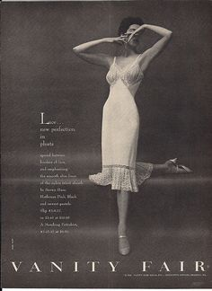 I have this slip! Classic Lingerie, Lacy Lingerie, Retro Lingerie, Vintage Bra, Vintage Vanity, Vintage Ladies, Vintage Clothing, Retro Vintage, Retro Ads