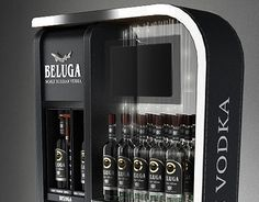 Beluga vodka premium POS display