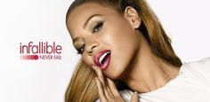 Beyoncé posing for L'Oréal.