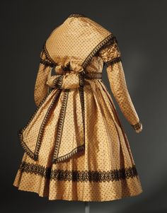 c.1869 Girl's dress with Pelerine, England; silk (view 2)