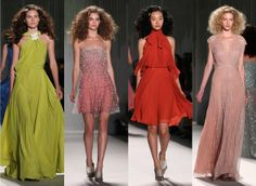 Jenny Packham Spring NY Fashion Week 2014  Love, love, love  Jenny Packham, especially that chartreuse gown!