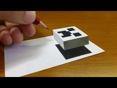 Very Easy!! How To Draw 3D Floating CREEPER(MINECRAFT)- 3D Trick Art on paper step by step - YouTube