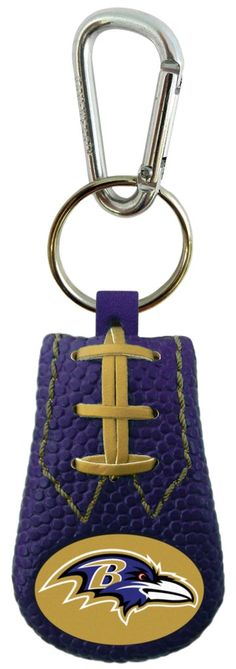 Baltimore Ravens Team Color NFL Football Keychain