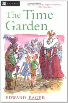 The Time Garden by Edward Eager, http://www.amazon.com/dp/0152020705/ref=cm_sw_r_pi_dp_k9ZLqb0JHPX8X
