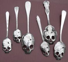 Skull Spoons made by my friend Tom Sale - http://www.pinkydiablo.com/