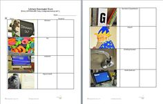 Library Scavenger-Hunt!  Printable pages for older and younger children.