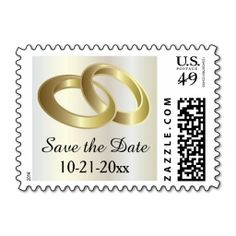 Personalized Red and Gold Wedding Rings Stamp Gold weddings