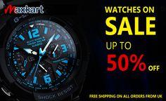 Watches on Sale up to 50% off. Maxkart.co.uk #DSLR #Camera #Lenses #Sigma #Watch #photography #MaxKart #uk #Sale #Casio #Gshock #protek #BabyG #Fossil