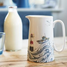 Fine bone china pint jug by UK ceramic artist Julia Davey.