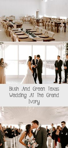 Blush and Green Texas Wedding at The Grand Ivory - Inspired By This #weddingplanner #SatinBridesmaidDresses #BridesmaidDressesWithSleeves #ChampagneBridesmaidDresses #MixAndMatchBridesmaidDresses #BridesmaidDressesShort