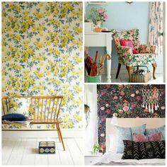 Preciosas ideas para decorar con estampados florales - Contenido seleccionado con la ayuda de http://r4s.to/r4s